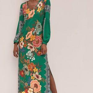 Anthropologie Farm Rio Verdor Maxi Dress